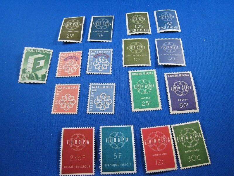 EUROPA/CEPT - 1959  -  8 COUNTRIES   MLH