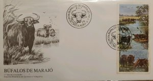 A) 1984, BRAZIL, WATER BUFFALO, FDC, WATER BUFFALO FROM MARAJO ISLAND, ECT, BELE