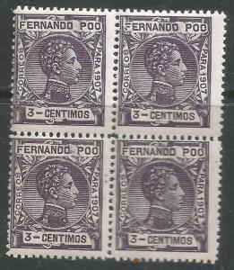 FERNANDO POO 154 MNH BLOCK OF 4 L918-1