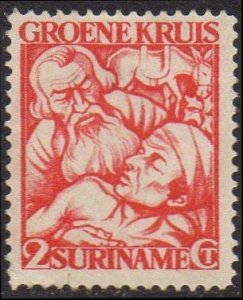 Suriname 1929 2c+2c red (Green Cross Fund) MH
