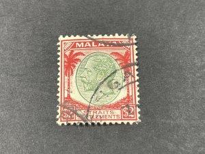 STRAITS SETTLEMENTS # 233--USED----SINGLE----1936-37