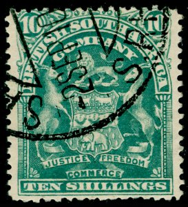 RHODESIA SG89, 10s grey-green, USED.