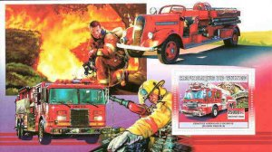 Guinea MNH S/S Fire Engines 2006