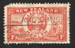 New Zealand Sc# B11 SG# 598 Used (a) 1936 Smiling Girl