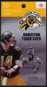 Canada 2574a Booklet MNH CFL, Hamilton Tiger-cats, Football, Sports