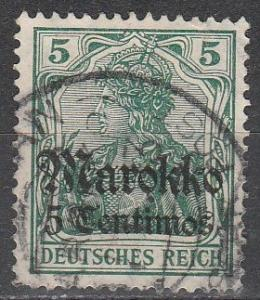 Germany Off In Morocco  #46  F-VF Used  (S4279)