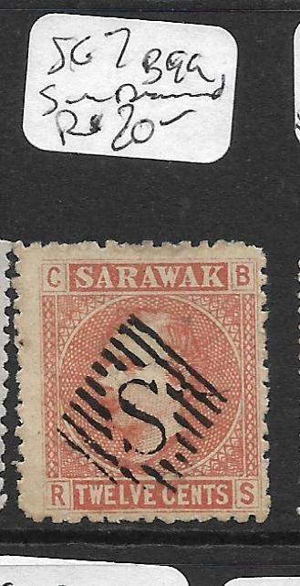 SARAWAK  (P0405B)  LITHO  12C  SG7 POS B-99 S IN DIAMOND CANCEL  VFU