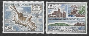 FRENCH SOUTHERN & ANTARCTIC TERRITORIES SG240/1 1988 PENGUIN ISLAND MNH