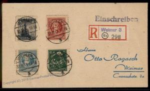 Germany Souvenir Sheet Soviet Zone SBZ Thuringia Thueringen Cover 63441