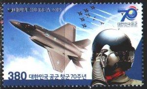 South Korea. 2019. 3190. Airplane, pilot. MNH.