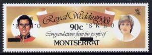 Montserrat 1982 Official & Surcharged 45c OHMS on 90c...