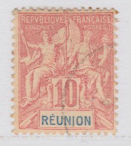 French Colony Reunion 1900-05 10c Used Stamp A21P32F6103
