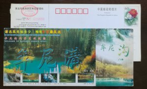 Waterfalls Forest ecosystem,CN00 sichuan songpan munigou scenic spot ticket PSC