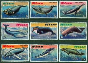 1983 Niue Scott 380-388 Whales MNH