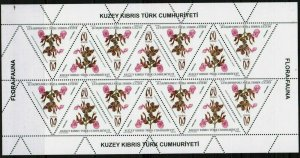 UNMOUNTED MINT 2013 FLORA FAUNA SET SHEETS TURKISH CYPRUS