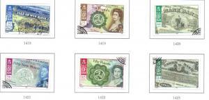 Isle of Man Sc 1252-7 2008 Manx Banknotes stamp set used