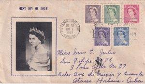 1953, Canada: Queen Elizabeth, FDC (E11874)