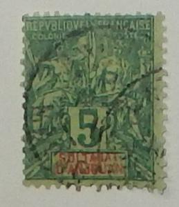 Anjouan 4. 1892 5c Green on greenish, used