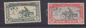EGYPT, EXPRESS LETTER STAMPS, 1926 20m. & 1929 20m., heavy hinged.