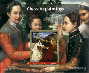 YEAR 2020/10- LIBERIA- CHEES IN PAINTING        1V complet set    MNH ** T