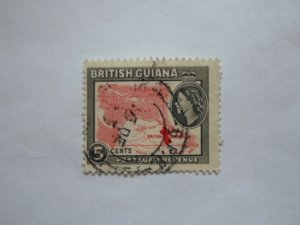 british guiana stampUSED NO HINGE MARKS, # 5