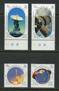 ASCENSION  ISLAND APOLLO 11 20th ANNIVERSARY OF THE MOON LANDING SET MINT NH
