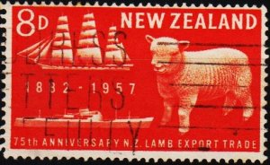 New Zealand. 1957 8d S.G.759 Fine Used