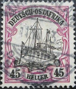 German East Africa 1905 Forty Five Heller with DAR ES SALAAM postmark