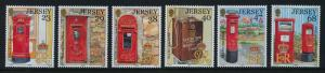 Jersey 1056-61 MNH Letter Boxes, Mail, Architecture