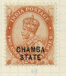 india chamba states- sg 60 -  lmm