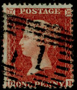 SG SPEC C6, 1d red-brown PLATE 11, USED. Cat £30. DH