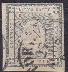 Sardinia #P2  F-VF Used  CV $105.00  (Z1409)