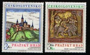 CZECHOSLOVAKIA  2081-2082 MNH PRAGUE CASTLE ART SET 1976
