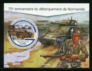 GUINEA 2019 75th ANNIVERSARY OF THE NORMANDY LANDING SOUVENIR SHEET MINT NH