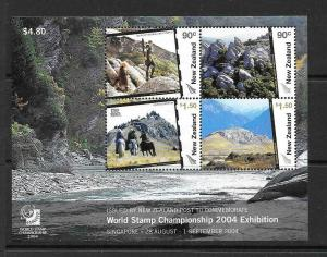 NEW ZEALAND SGMS2731 WORLD STAMP EXHIBITION  MNH