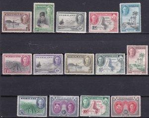1945 Nyasaland Scott 68-81 King George VI MLH