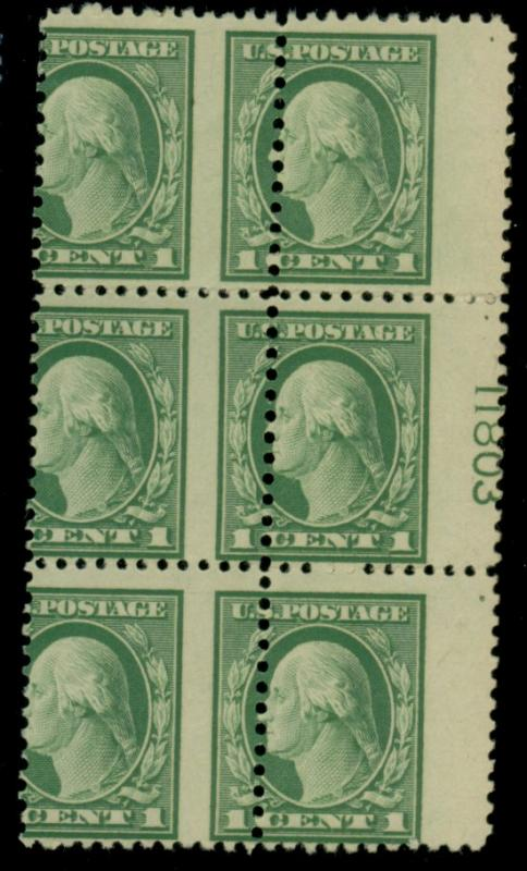 498 MINT MIsperfed Plate Block