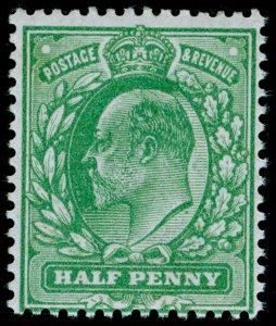 SG270 SPEC M3(5), ½d pale bluish green, NH MINT. Cat £80.
