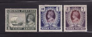 Burma 29-31 MH King George VI