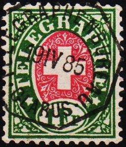 Switzerland. 1881 1f (Telegraph) Fine Used