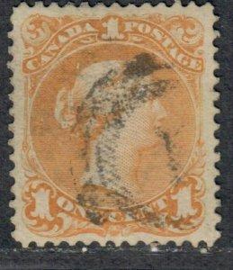 $Canada Sc#23 used, F-VF, no faults, Cv. $290