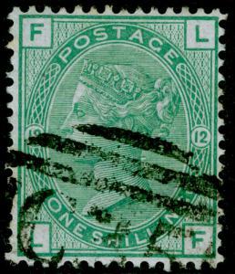 SG150, 1s green plate 12, FINE USED. Cat £140. C35 PANAMA. LF