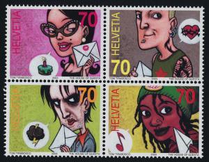Switzerland 1150-1 MNH Comics Festival, Art