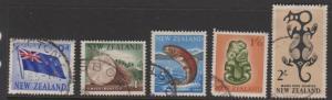 New Zealand Sc#342-345,347 Used