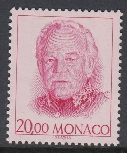 Monaco 1673A Prince Rainier III mnh