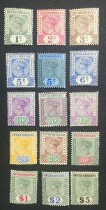 MOMEN: HONDURAS SG #51-65 1891-1901 MINT OG H/2NH(25c,10c) LOT #61234