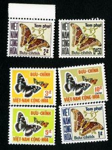 Vietnam Stamps # J15-20 XF OG NH Scott Value $52.00