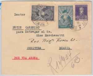 ARGENTINA - POSTAL HISTORY  -  REGISTERED AIRMAIL COVER to BRAZIL - 3.5.1929