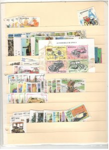 WORLDWIDE AUTOMOBILE TOPICAL COLLECTION ON STOCK SHEET,