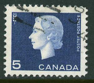 Canada 405, 5c Queen Elizabeth II. Used. (504)
